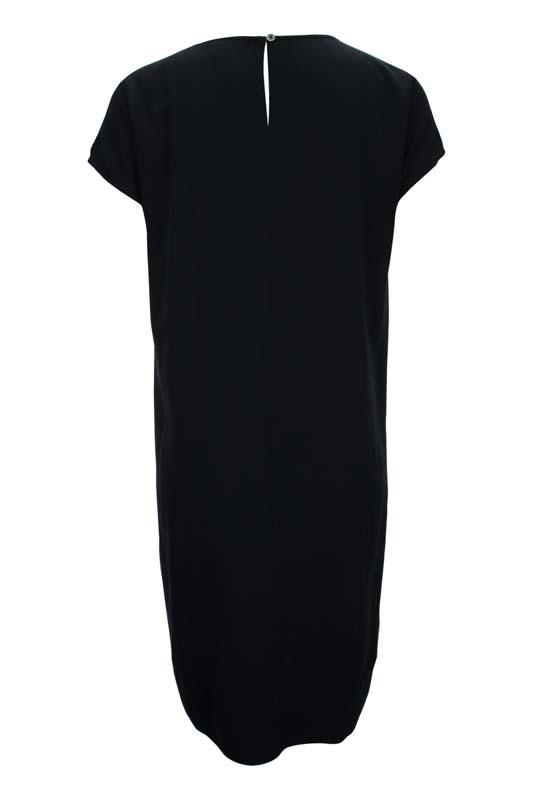 Dámské černé šaty s lesklou aplikací 2