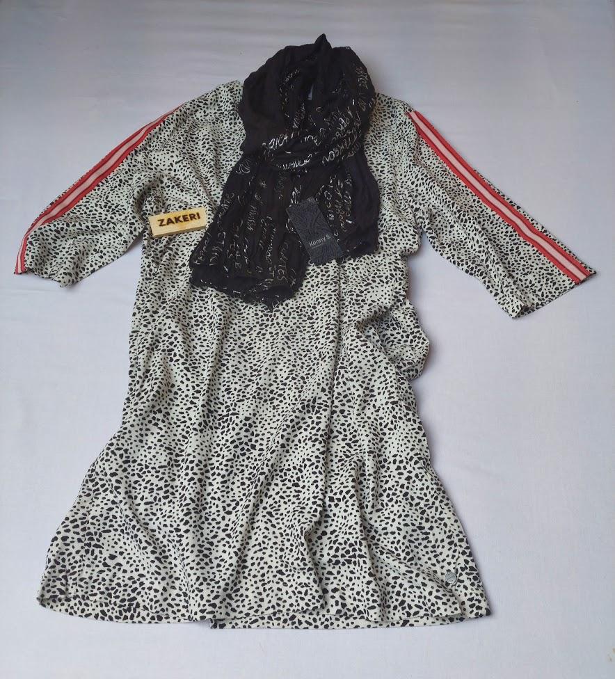 Šaty černo-bílé Garcia