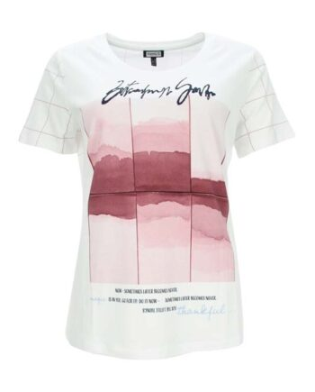 Bílé tričko s akvarel motivem Kenny S.